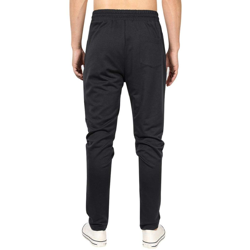 MISYAA Mens Pants Pocket Drawstring Activewear Breathable Sport Pants Solid Sweatpants for Men Masculinous Gifts