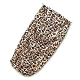 "SUEDE COVER for 4-Step Doggie Stairs for Small Dogs Cats- Fits Best Pet Supplies (24"" x 15"" x 19"") Foam Pet Steps- Machine Washable Covers- Anti Slip Base- Ultra Plush Supplies for Dog Furniture (Animal Print)"