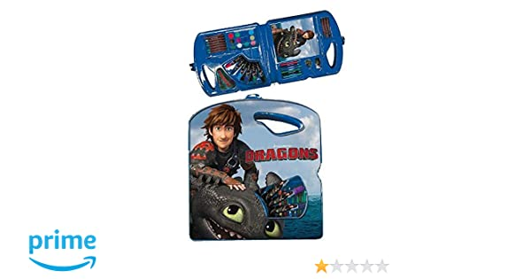 Dragons Como entrenar a mi dragón Maletín para dibujar / Maletín con pinturas Dragons Titan 40-piezas (32 cm): Amazon.es: Bebé