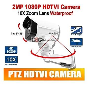 2MP CMOS HD-TVI MINI PTZ BULLET Security CAMERA 10X OPTICAL ZOOM 1080P 5.1-51mm LENS IP66, BNC Output, 12VDC, For TVI DVR ONLY