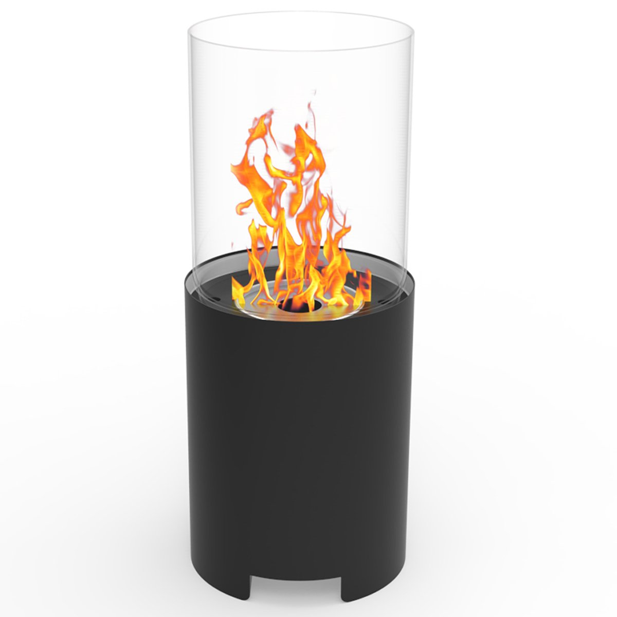 Regal Flame Capelli Ventless Indoor Outdoor Fire Pit Tabletop Portable Fire Bowl Pot Bio Ethanol Fireplace in Black - Realistic Clean Burning like Gel Fireplaces, or Propane Firepits by Regal Flame