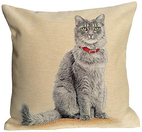 Amber Textile Cat Tapestry Throw Pillow Covers Cases Decorative Cushion Covers Pillowcase Cushion Case for Sofa, Couch.18 x18 Inches - Gray -
