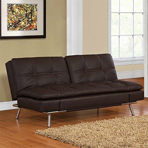 Lifestyle Solutions Serta Neo Convertible Sofa in Dark Brown