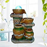 Resin Crafts European Style Fountain Home Wedding Decoration Modern Small Living Room Indoor Water Decorations