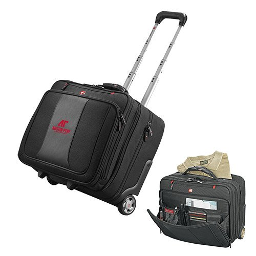 Austin Peay Wenger Transit Wheeled Black Compu Briefcase 'AP Austin Peay Governors - Official Athletic Logo' by CollegeFanGear
