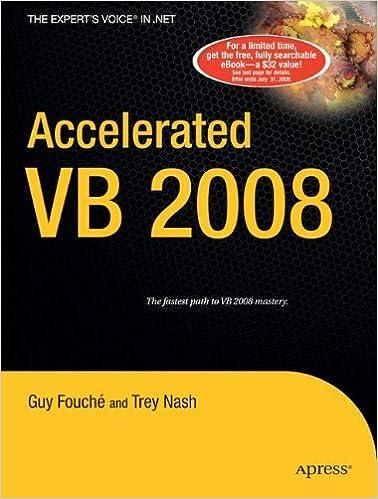 Vb Jl accelerated vb 2008 trey nash 9781590598740 amazon com books