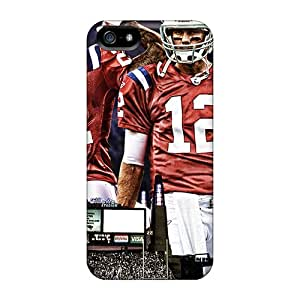 Anti-Scratch Cell-phone Hard Covers For Iphone 5/5s (Gtw15229MIpT) Allow Personal Design Trendy New England Patriots Pictures