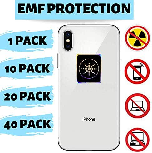Radiation Protection for CELLPHONES/Laptop - Anti EMF/EMR Radiation Sticker - Radiation Shield Blocker - Remove Electronic Technologies Radiation - 40 Pack Bundle Deal!