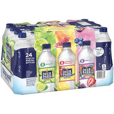 Deer Park Rainbow Sparkling Water Variety, 16.9 Ounce  (24 Bottles) -