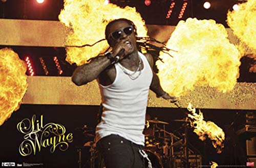(Trends International Lil Wayne Stage Fire Wall Poster Print)
