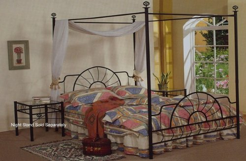 Size Metal Full Sleigh Bed (Black Metal Full Size Canopy Bed Headboard & Footboard)