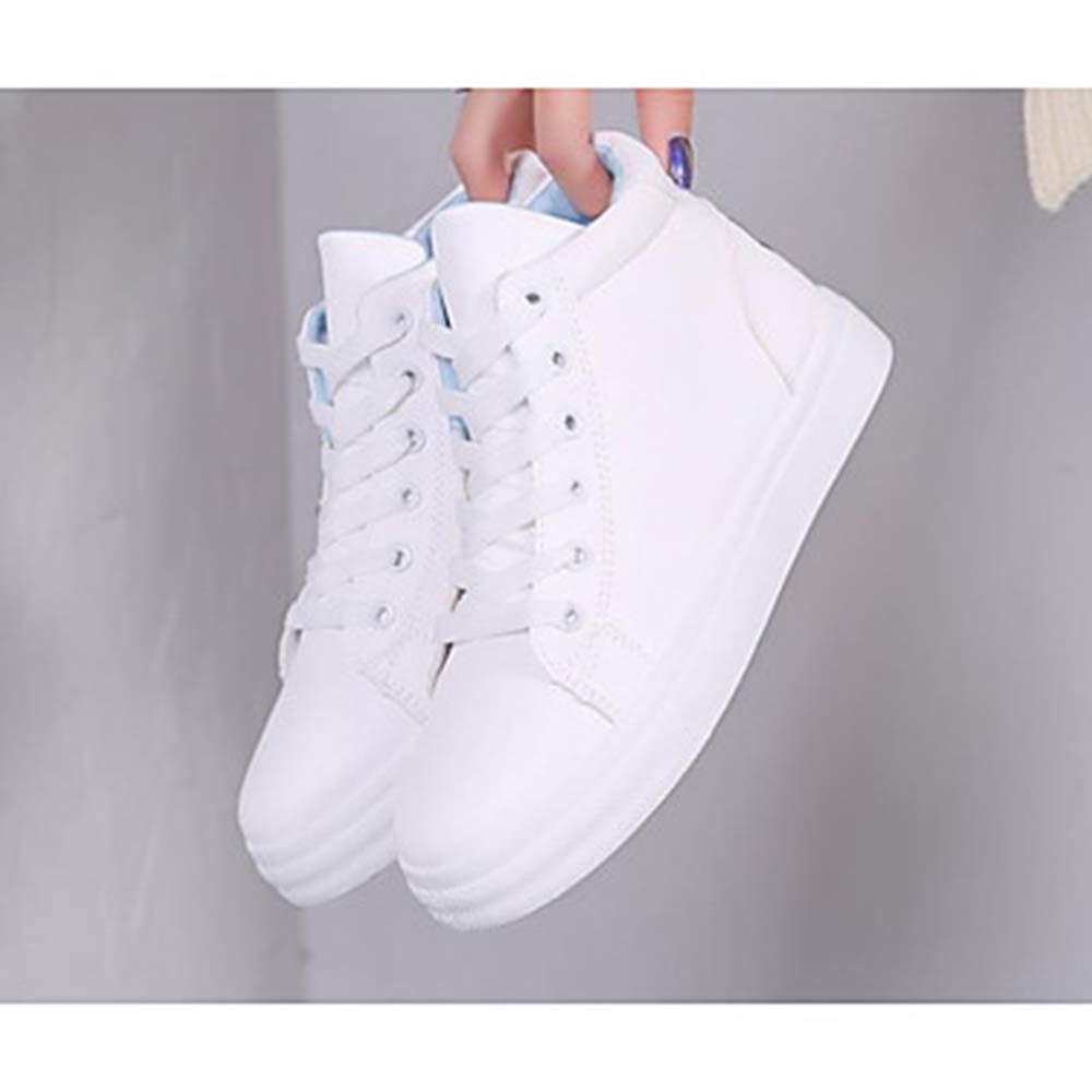 TTSHOES Per Donna Scarpe PU (Poliuretano) Autunno Comoda Sneakers Piatto Bianco/Blu / Rosa,Blue,US7/EU37/UK5.5/CN37 -