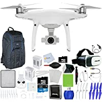 DJI Phantom 4 Pro Quadcopter + Xtreme VR Vue II (For iPhone/Android Screen Size 3.5-6) + Intelligent Flight Battery (5350mAh) + 64GB Micro SD + Backpack Pro II + Car Charger & More!
