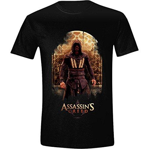 Assassin's Creed T-Shirt Filmcharakter, schwarz aus Baumwolle, Größen S - XL