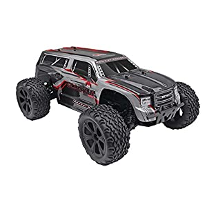 Redcat Racing Blackout XTE PRO 1/10 Scale Brushless Electric Monster Truck with Waterproof Electronics, Silver SUV