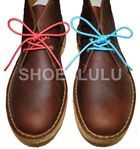 Shoeslulu 20-59 Premium Round Waxed Canvas Shoelaces Bootlaces Electric Blue xeMyQm51Q