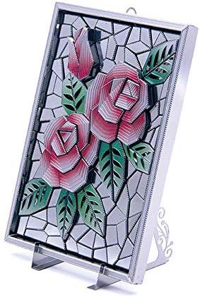 [해외]3D 금속 퍼즐 마이크로 월드 나노 직소 퍼즐 DIY 모델 빌딩 키트 성인용 - Z002 로즈 플라워 사진 불꽃 / 3D Metal Puzzle Microworld Nano Jigsaw Puzzle DIY Model Building Kit for Adult - Z002 Rose Flower Photo Flame