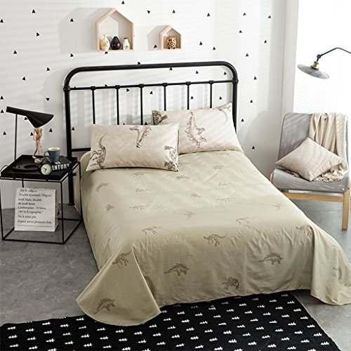 Amazon.com: CASA Dinosaur Duvet cover set 100% cotton Children Bedding Duvet cover and flat sheet and pillowcases,4PC,queen: Home & Kitchen