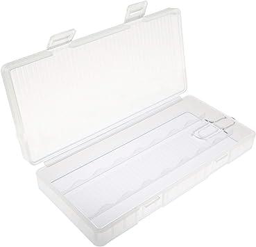 Paquete de 1 caja de almacenamiento de plástico grueso 8 x AA de plástico con soporte de almacenamiento para pilas de 4,722.280.79inch: Amazon.es: Bricolaje y herramientas