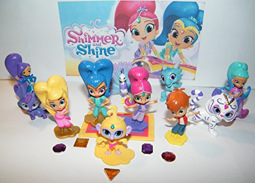 Nickelodeon Shimmer and Shine Deluxe Figure Toy Set of 17 with