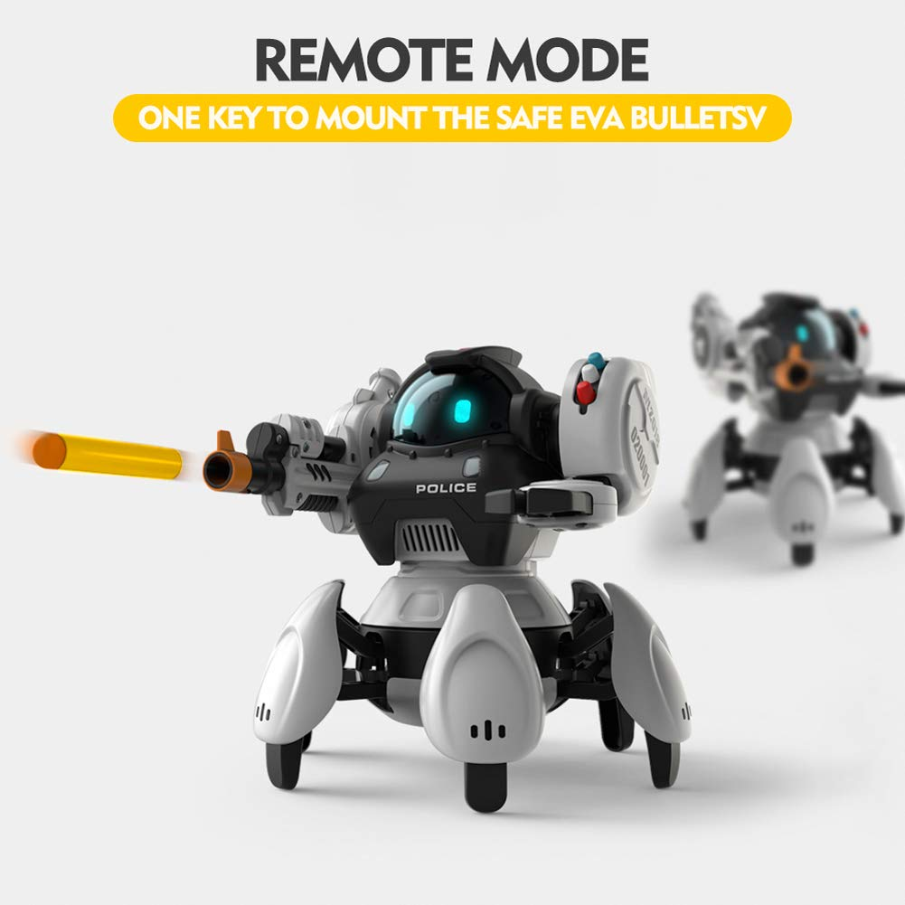 Sparkler Remote Contol Intelligent Robot Toy for Kids with 5 Modes and Fun Voice, Rechargeable Smart Robotics Kit Space Police Starbot by Sparkler (Image #3)