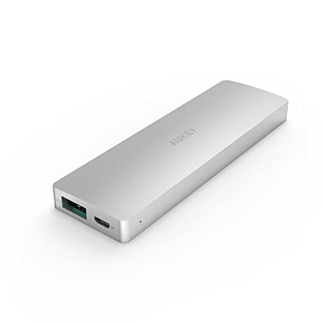Aukey® 3300mAh Batería Externa portatil, Cargador aluminio de Edición conmemorativa para iPhone 6, iPhone 6 plus, iPhone 5, 5s, 5c, iPhone 4, 4s iPod, ...