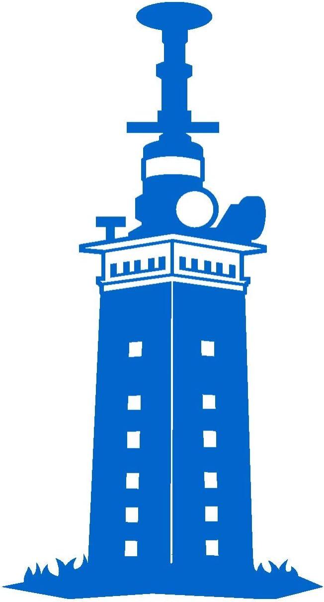 Samunshi Leuchtturm Helgoland Aufkleber In 7 Größen Und 25 Farben 39x70cm Azurblau Küche Haushalt