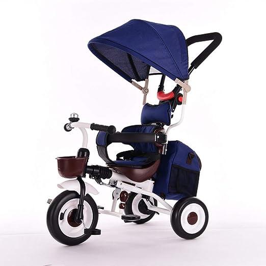 Lnyy Triciclo de niños Bicicleta Bicicleta Cochecito de bebé ...