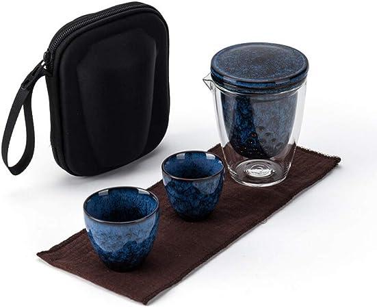 Hermoso juego de té de diseño El sistema de té japonesa mini portátil de la resistencia