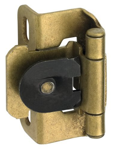 - Amerock BP8719BB Single Demountable, Partial Wrap Hinge with 1/2in(13mm) Overlay - Burnished Brass - by Amerock