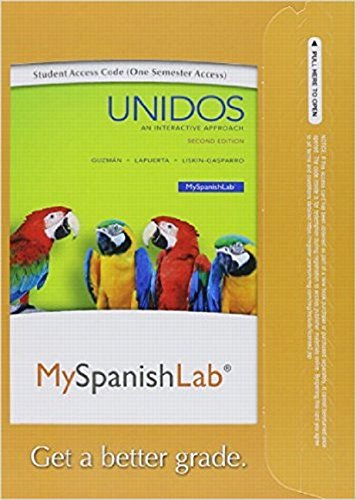 Mylab Spanish With Pearson Etext   Access Card   For Unidos  One Semester    2Nd Edition