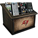 Fan Creations N0765-TBB Tampa Bay Buccaneers Woodgrain Media Organizer, Multicolored
