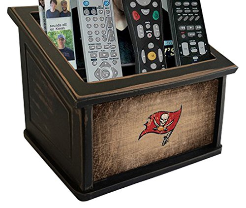 Fan Creations N0765-TBB Tampa Bay Buccaneers Woodgrain Media Organizer, Multicolored by Fan Creations