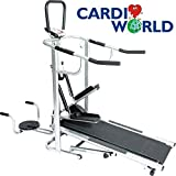 Cardioworld - 4 IN 1 Manual Treadmill Cardioworld (Stepper+Twister+Push Up) Running & Walking