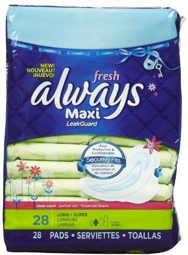 h Wings, Fresh Scent - Super - 28 ct by Always ()