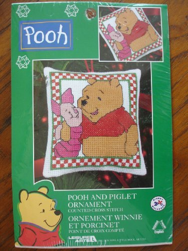 Pooh and Piglet Ornament: Counted Cross Stitch