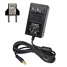 HQRP AC Adapter for Western Digital WD My Book WDBFJK0020HBK / WDBFJK0030HBK / WDBFJK0040HBK ; 2TB / 3TB / 4TB External Hard Drives HDD Power Supply Cord + HQRP Euro Plug Adapter