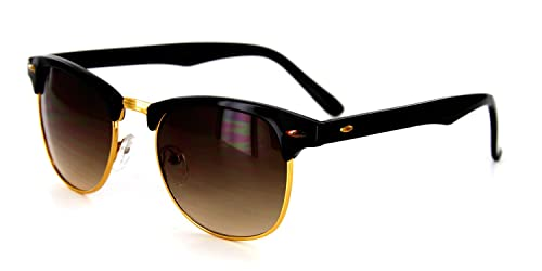 Amazon.com: Retro Sun Sunglasses with Vintage Frames and Dark Tint ...