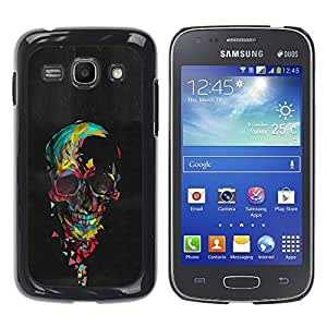 Be-Star Único Patrón Plástico Duro Fundas Cover Cubre Hard Case Cover Para Samsung Galaxy Ace 3 III / GT-S7270 / GT-S7275 / GT-S7272 ( Skull Colorful Black Paint Heart Pink )