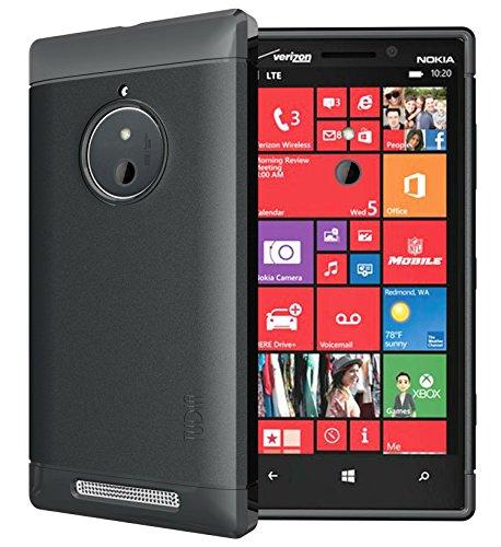 TUDIA Ultra Slim LITE TPU Bumper Protective Case for Nokia Lumia 830 (Black)