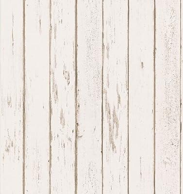 Brewster Northwoods Lodge Weather Plank Wallpaper