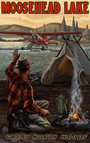 Northwest Art Mall Moosehead Lake Great Northwoods Wall Art by Paul A Lanquist, 11 by ()