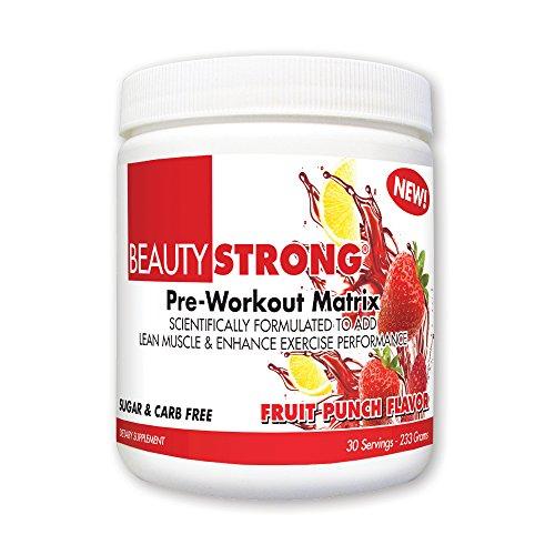 BeautyFit BeautyStrong, Pre-Workout Matrix For Women, Fruit Punch, 233 grams (30 Servings)