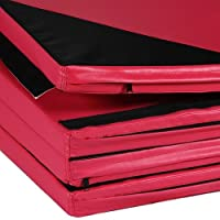 "Sportmad 4'x10'x2"" Thick Folding Panel Gymnastics Tumbling Mat Gym Fitness Exercise"