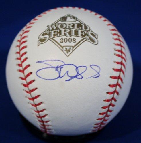 Autographed Dan Wheeler Official 2008 World Series Major League Baseball w/ - Autographed Baseball World Series Official