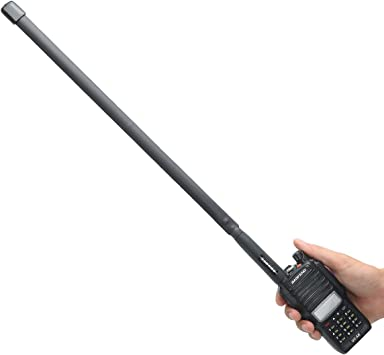 ABBREE SMA - Antena táctica plegable VHF UHF de doble banda ...