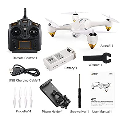 Littleice JJRC JJPRO X3 RC Quadcopters Drone GPS 2.4G 6CH Brushless WiFi FPV 1080P RTF,Compatible Android 4.0.3 or Later, iOS 8.0 or Later by Littleice