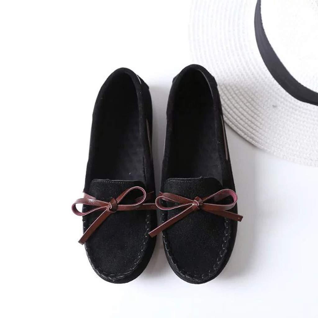 Linkay Femme Chaussures Femme /Ét/é Sandales /Él/égant Plat Chaussures Casual T/ête Ronde Papillon Noeud Pois Chaussures Mode 2019