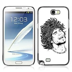 CQ Tech Phone Accessory: Carcasa Trasera Rigida Aluminio Para Samsung Galaxy Note 2 N7100 - Cool Tattoo Illustration