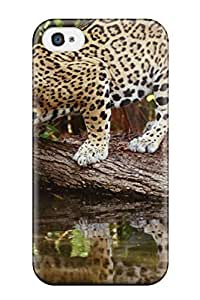 Barbauller KagPDnx6582zyfHx Case Cover Skin For Iphone 4/4s (a Leopard On A Tree Drinking Water)